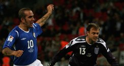 Paulo di canio and Jaime theakston at soccer aid