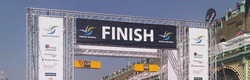 finish line at Brighton Marathon