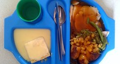 Note... Blue plates make your food look funny!
