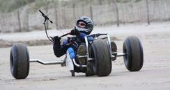 Glen Jordan on his kite buggy before the accident