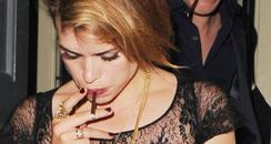 Billie Piper smoking