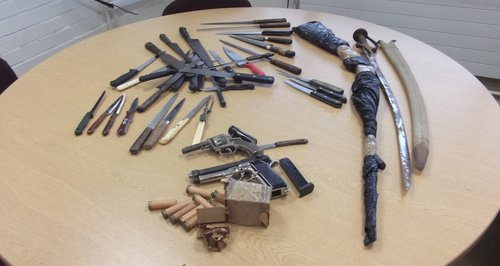 Things handed in during weapons amnesty