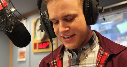 Olly Murs in the Heart studio