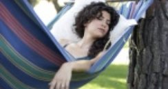 Lady asleep in hammock
