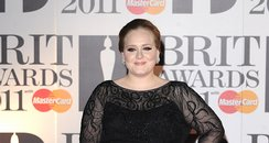Adele arriving for the 2011 Brit Awards