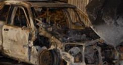Victoria Fabian's car after explosion