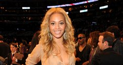 Beyonce attends The NBA All-Star Game