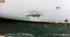The damaged Oriana