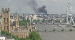 Picture tweeted of the Strand fire