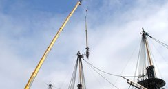Topmast removal, HMS Victory
