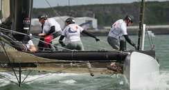 Team Korea racing in Plymouth Sound