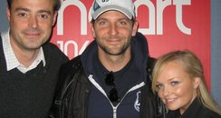 Bradley Cooper with Jamie and Emma Bunton