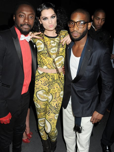 Will.I.Am and Jessie J at the BRIT Awards 2012 aft
