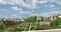 artist's impression of eco village, bickleigh, ply