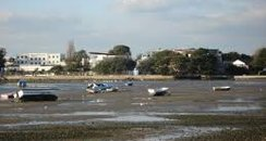 Mudflats at lows tide at Barton On Sea