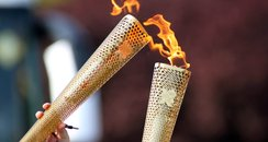 The Olympic Torch as photographed by Tom Penny