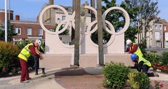 Olympic Rings at Weymouth station