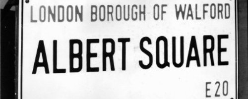 Eastenders Albert Sq sign