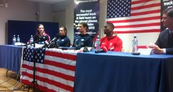 American Athletes Press Conference