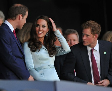 The Duke, the Duchess of Cambridge and Prince Harry