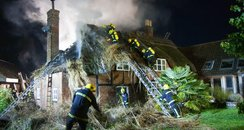 Fire at a cottage in the New Forest