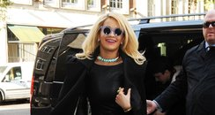 Rita Ora pictured wearing sunglasses in London