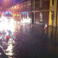 Houses on Bittern Road flooded