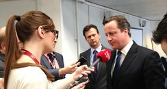 David Cameron In Milton Keynes