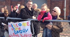 HMS Edinburgh welcome home daddy