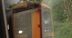 train smashed windscreen