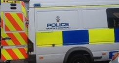 Police Riot Van In Bodmin Street
