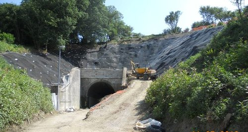 Beaminster Tunnel repaired