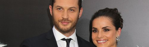 Tom Hardy And Charlotte Riley at a film premier.
