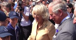 The Royal Couple meet the sea scouts