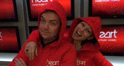 Stephen Mulhern & Emma Willis wear onesies
