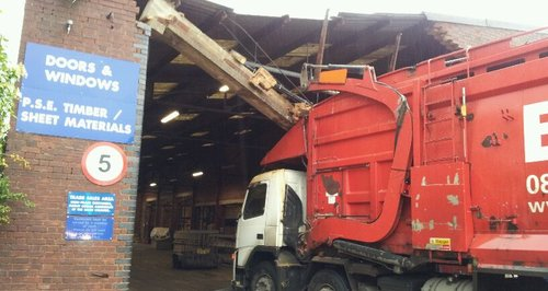 Lorry Crashes Into Building In Watford
