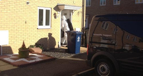 Forensic Officers At Yaxley House After Death Of Toddler