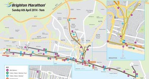Brighton Marathon map 2014