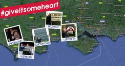 Map of South Coast Giving It Some Heart