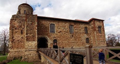 The entrance to Colchester Castle