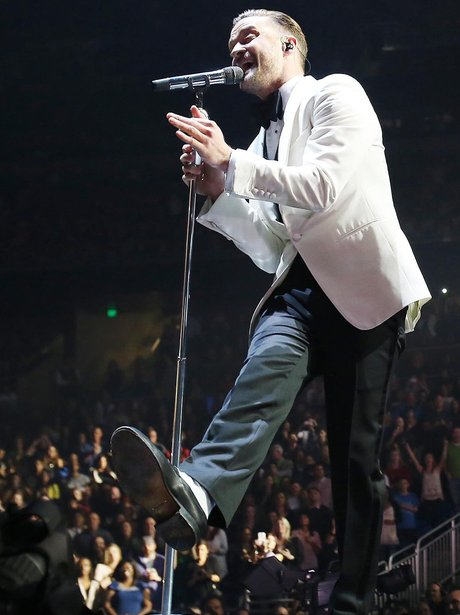 Justin Timberlake performs in Orlando, Florida, USA.