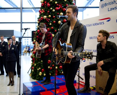 Lawson do a surprise gig at an airport