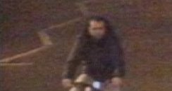 CCTV image of man on bike police want to speak to
