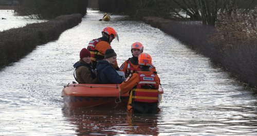 BARB rescue pensioner in Muchelney