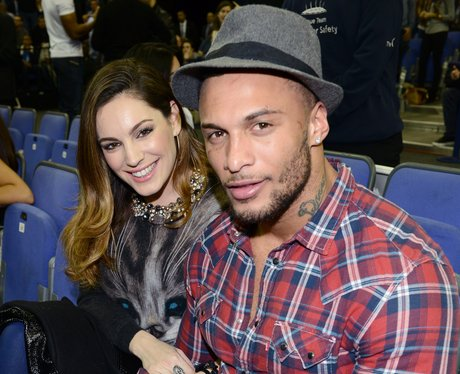 Kelly Brook and David McIntosh attends basketball