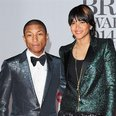 Pharrell Williams and Helen Lasichanh at the Brits