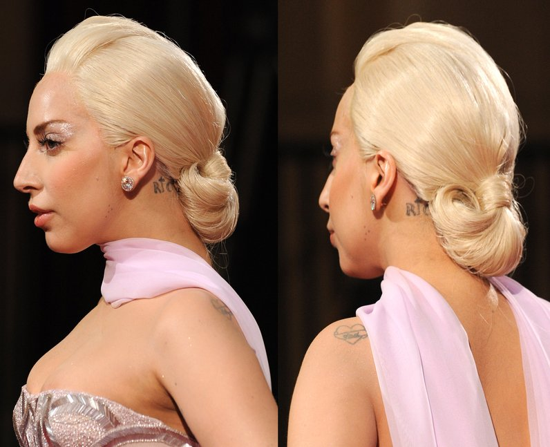 Lada Gaga Has Red Carpet Hair All Tied Up With Her