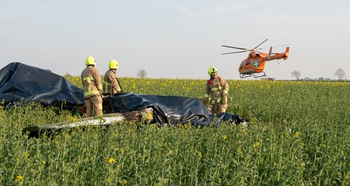 Light aircraft crashes into field in Essex