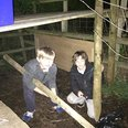 Ed's kids making a den