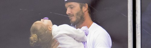 David Beckham and Harper